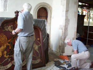 Restauration work at St Mary the Virgin Smeeth