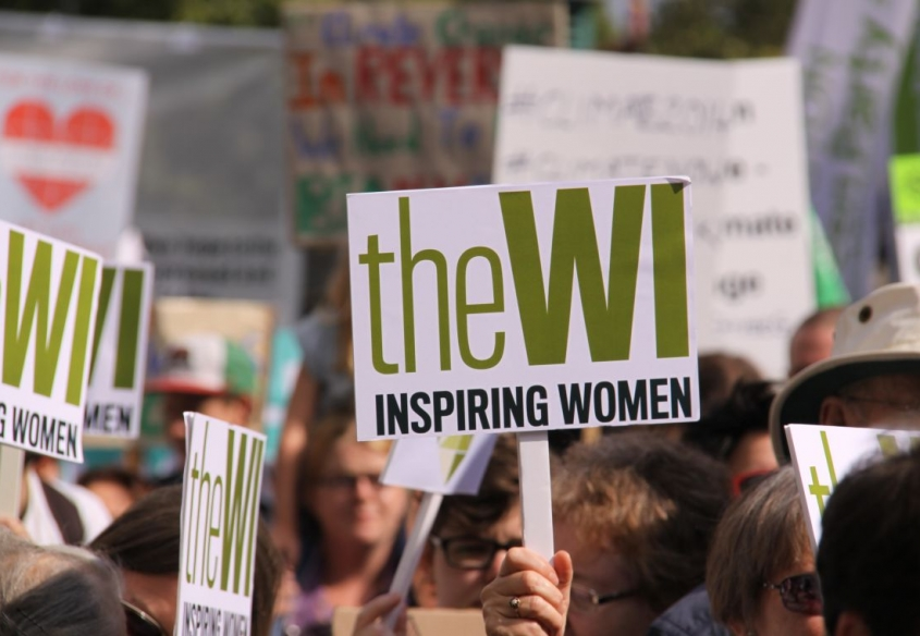 Womens Institute marching
